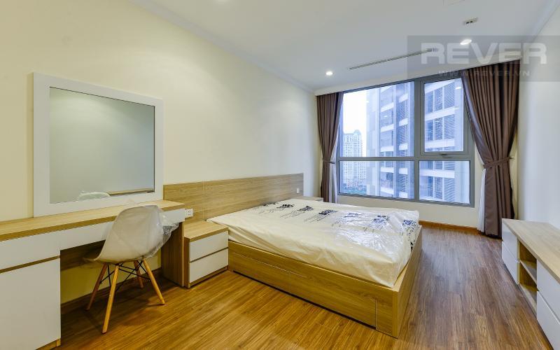 phong ngủ 2 Căn hộ Vinhomes Central Park trung tầng Landmark 1 view nội khu