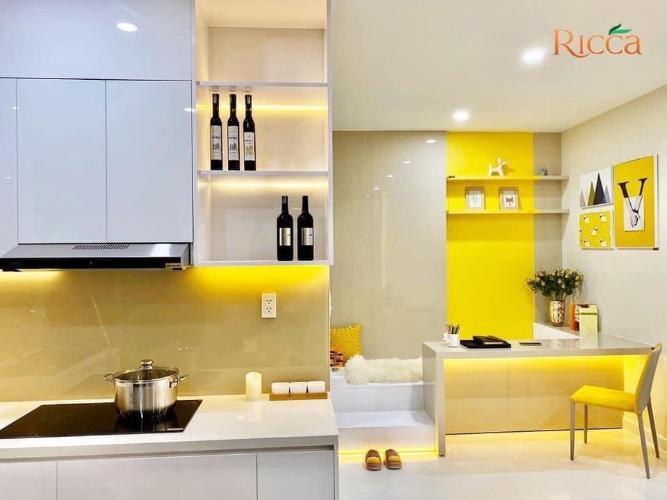 bếp căn hộ Ricca Căn hộ Ricca Quận 9 tầng cao nội thất cơ bản, thiết kế hiện đại.