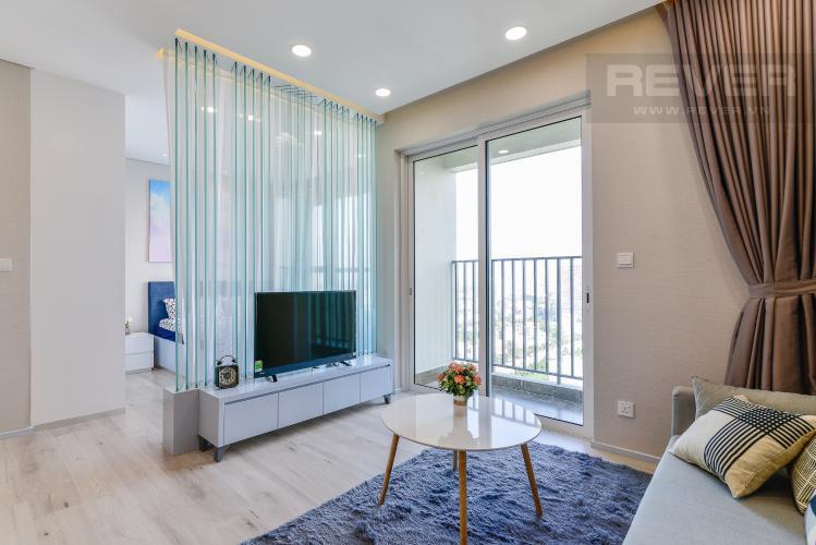 Phòng Khách Căn hộ Vista Verde 1 phòng ngủ tầng cao T1 đầy đủ nội thất