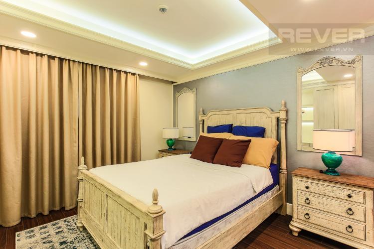Phòng Ngủ Cho thuê căn hộ Icon 56 tầng trung, 1PN đầy đủ nội thất