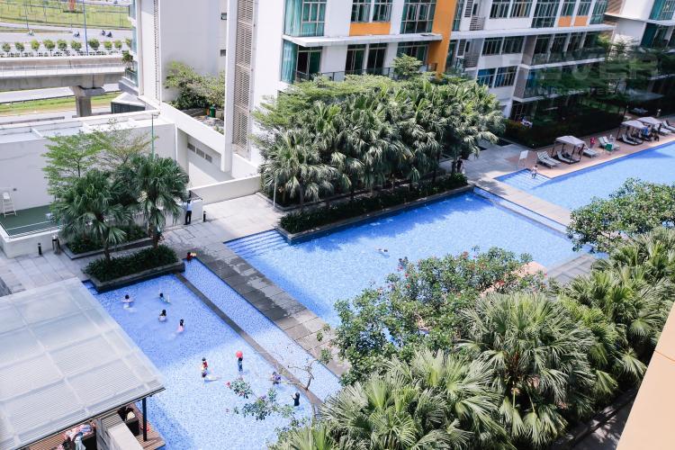 View Căn hộ The Vista An Phú 2 phòng ngủ tầng thấp T3 view nội khu