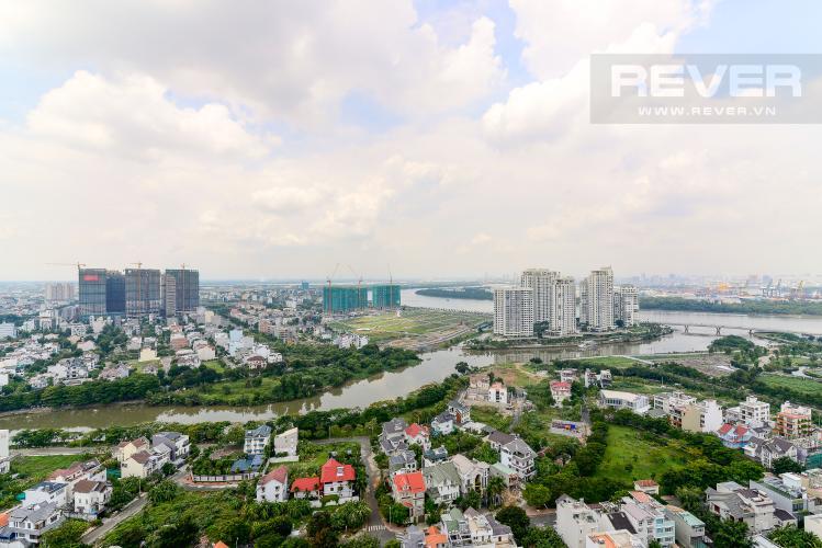 View Cho thuê căn hộ The Sun Avenue 3PN, tầng cao, nội thất cơ bản, view sông thoáng mát