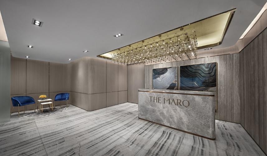 Sảnh The MARQ 1 Căn hộ The MARQ tầng thấp, nội thất cơ bản.