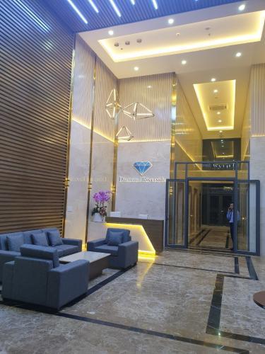 Phòng khách căn hộ chung cư Diamond Riverside, Quận 8 Căn hộ Daimond Riverside nội thất cơ bản cao cấp, view nội khu.