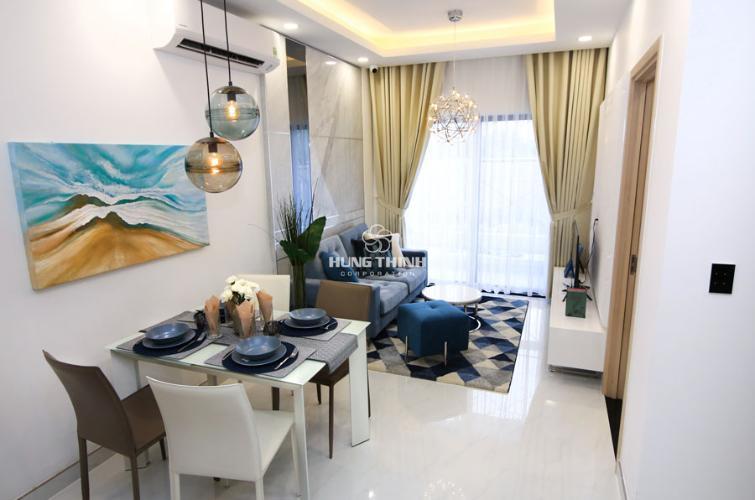 Nội thất phòng khách Bán căn hộ tầng cao Q7 Saigon Riverside, ban công hướng Nam.