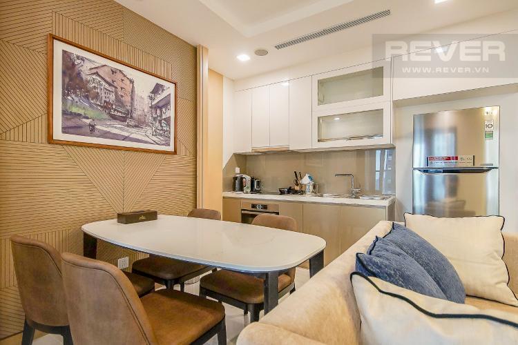 Phòng Ăn Cho thuê căn hộ Vinhomes Central Park 1PN, diện tích 54m2, đầy đủ nội thất, view thành phố và sông Sài Gòn