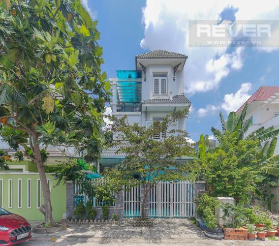 Mặt Tiền Cho thuê nhà phố KDC Khang An - Phú Hữu Q.9, 3 tầng, 5 phòng ngủ, đầy đủ nội thất, diện tích 168m2