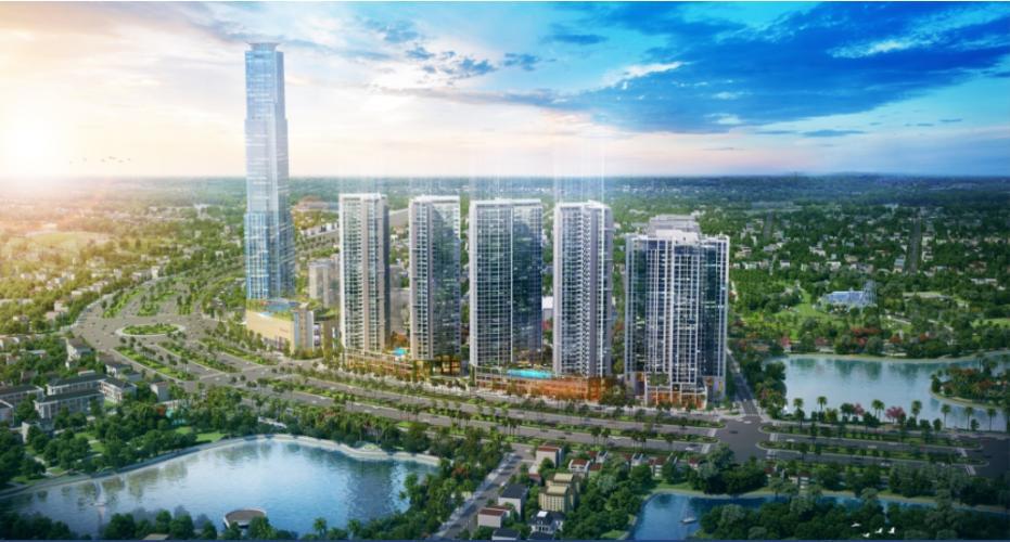 Tòa nhà  căn hộ Eco Green Saigon Căn hộ Eco Green Saigon đầy đủ nội thất, view thành phố sầm uất.
