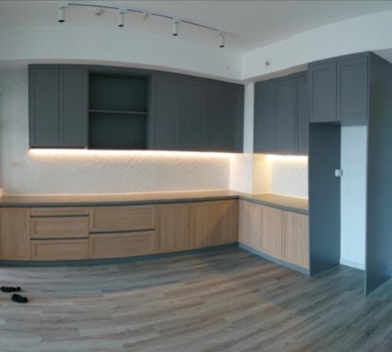 Căn hộ Palm Heights nội thất gỗ cơ bản, thiết kế sang trọng.