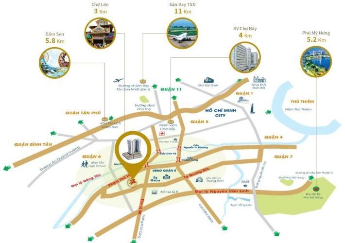 sơ đồ vị trí dự án căn hộ city gate 3 Căn hộ City Gate 3 view thành phố, nội thất cơ bản.