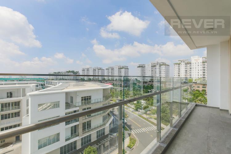 Balcony Cho thuê căn hộ Sarina Condominium 3PN, tầng thấp, đầy đủ nội thất, hướng Đông Nam đón gió