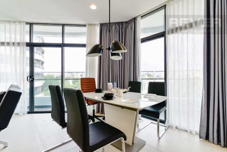 Phòng Ăn Bán hoặc cho thuê căn hộ City Garden 100m2 2PN 2WC, view nội khu, nội thất cao cấp
