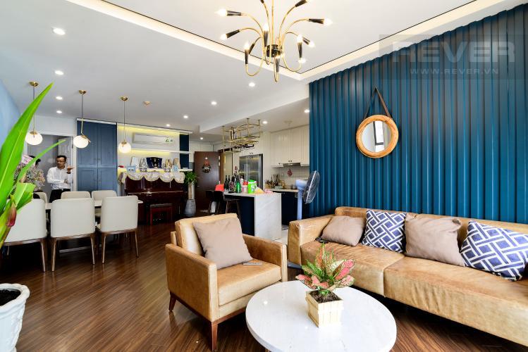 Phòng Khách Bán căn hộ The Gold View 3PN, tầng thấp, diện tích 117m2, đầy đủ nội thất