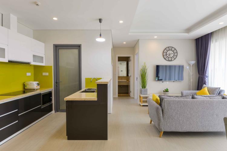 Phòng Khách Bán hoặc cho thuê căn hộ Đảo Kim Cương 2 phòng ngủ tháp Hawaii, đầy đủ nội thất, view nội khu đẹp