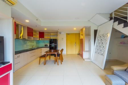 Cho thuê căn duplex Masteri Thảo Điền 2PN, view hồ bơi, đầy đủ nội thất