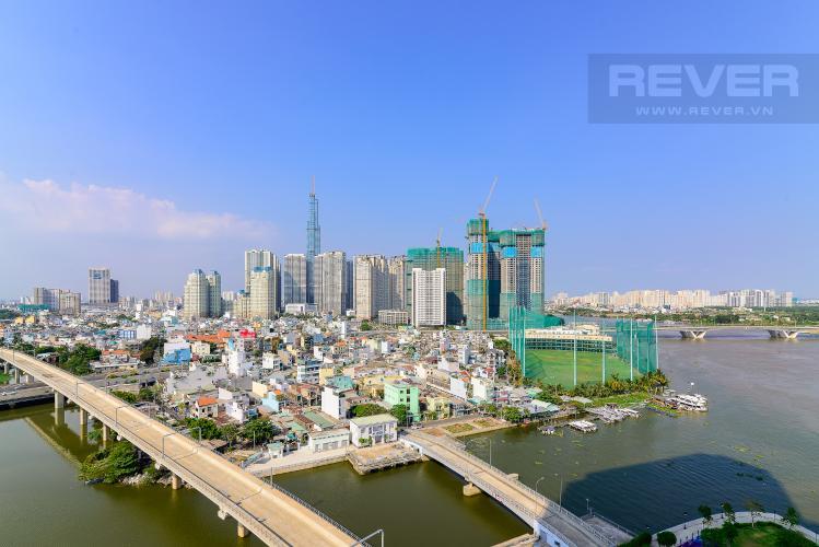 View Bán hoặc cho thuê căn hộ Vinhomes Golden River 2PN tầng trung, đầy đủ nội thất, view sông Sài Gòn và Landmark 81