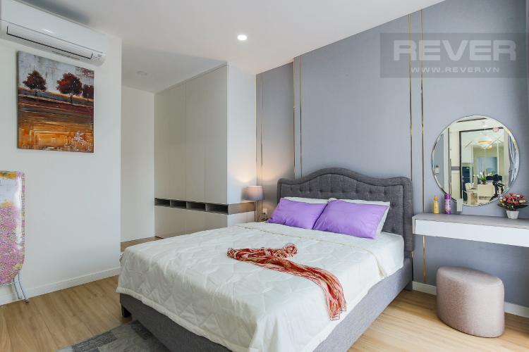 Phòng Ngủ 1 Cho thuê căn hộ Masteri Millennium Quận 4 tầng cao, 2PN, đầy đủ nội thất