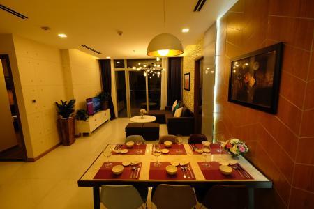 Bán căn hộ Vinhomes Central Park 3PN, tầng trung, đầy đủ nội thất, ban công Đông Bắc