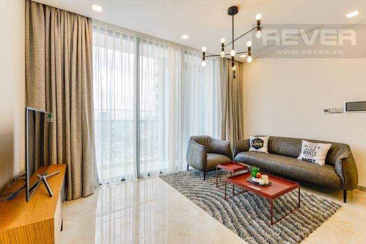Phòng khách Cho thuê căn hộ Vinhomes Golden River tầng cao, 2PN đầy đủ nội thất, view sông thoáng đãng