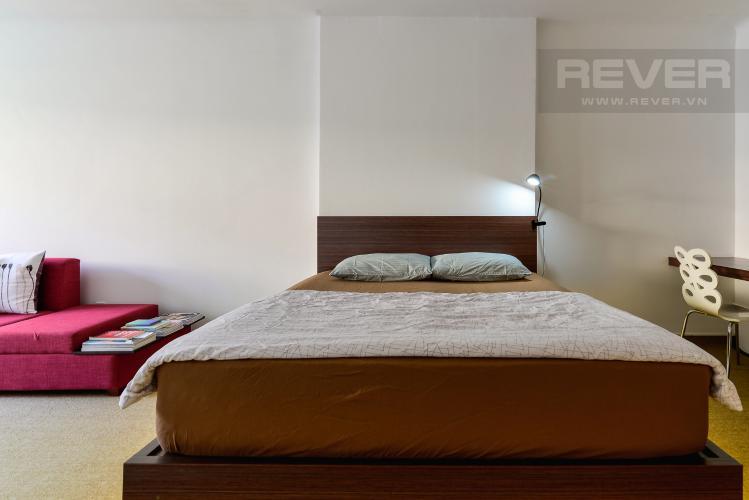 Phòng Ngủ Cho thuê nhà đường Nguyễn Thái Học diện tích 47m2 1PN 1WC, nội thất tiện nghi, view khu dân cư
