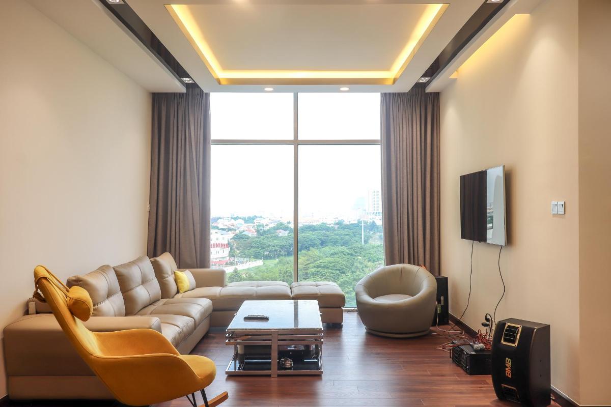 Phòng Khách Bán căn hộ chung cư Phú Mỹ 3 phòng ngủ, block 2, diện tích 117m2, đầy đủ nội thất, view thoáng