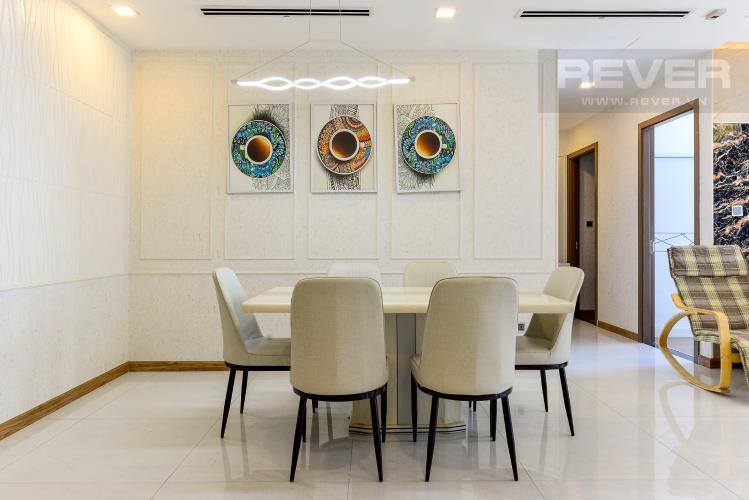 Phòng Ăn Cho thuê căn hộ Vinhomes Central Park 3PN, tháp Park 1, đầy đủ nội thất, hướng Tây Bắc