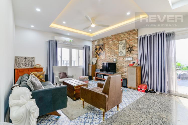 Phòng Khách Penthouse Chung cư Bộ Công An 3 phòng ngủ tầng cao nội thất đầy đủ
