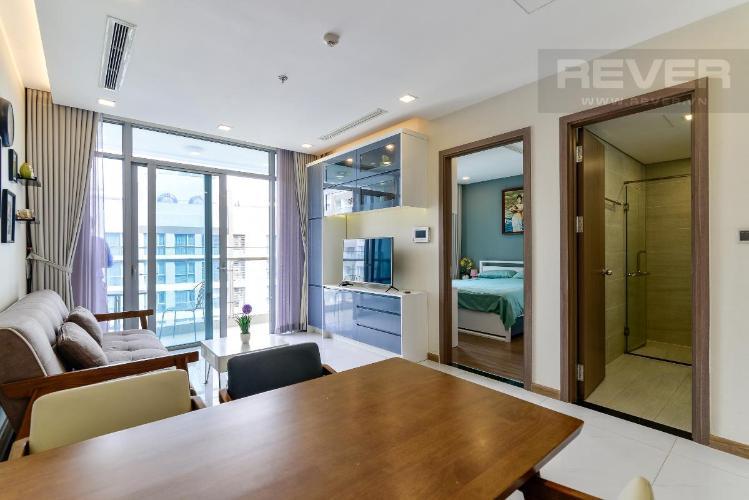5 Bán căn hộ Vinhomes Central Park 1PN, tháp Park 7, đầy đủ nội thất, view hồ bơi và mé sông