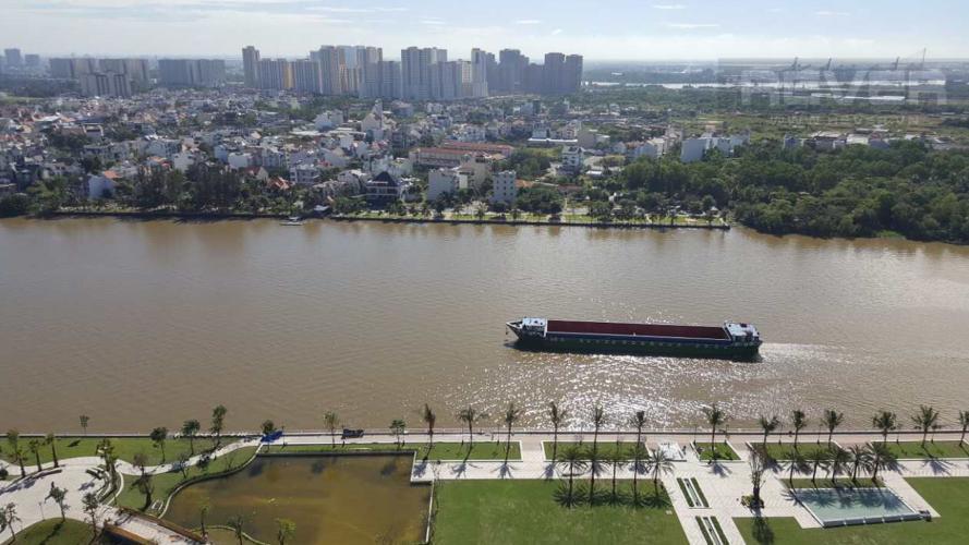 View Bán căn hộ Vinhomes Central Park 4PN, tháp Park 1, nội thất cơ bản, view trực diện sông Sài Gòn