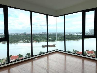 Cho thuê căn hộ góc 3 phòng ngủ D'Edge Thảo Điền, nội thất cơ bản