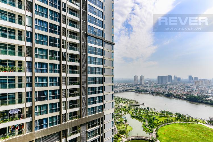 View Căn hộ Vinhomes Central Park 2 phòng ngủ tầng cao P4 view sông