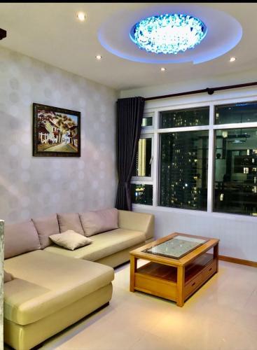 Phòng khách , Căn hộ Saigon Pearl , Quận Bình Thạnh Căn hộ Saigon Pearl tầng 15 view thành phố sầm uất, đầy đủ nội thất hiện đại.