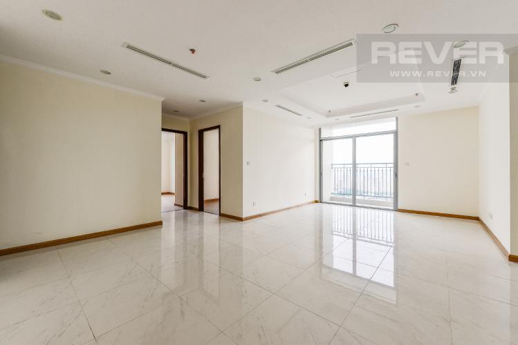 Phòng khách Căn hộ Vinhomes Central Park 4 phòng ngủ tầng cao C1 view sông