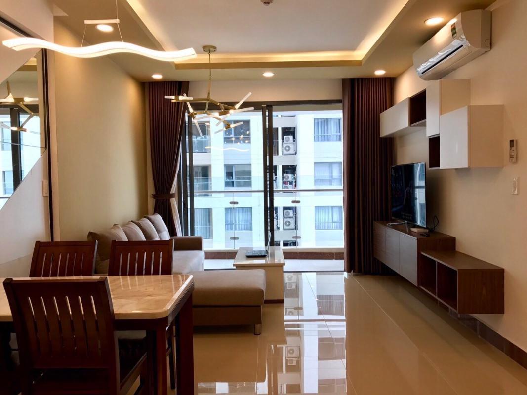 1 Bán căn hộ The Gold View 2PN, tầng trung, đầy đủ nội thất, hướng cửa Tây Nam
