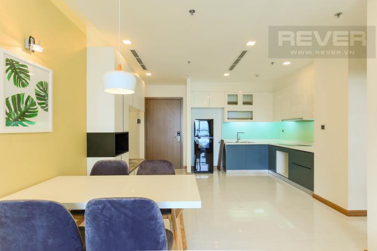 Phòng Bếp Căn hộ Vinhomes Central Park tầng cao Park 6 đầy đủ nội thất, view sông