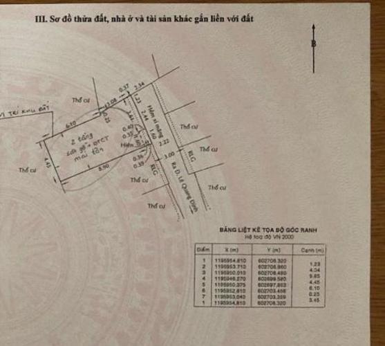 Bản vẽ nhà Lê Quang Định, Bình Thạnh Nhà mới xây hẻm Lê Quang Định, 1 trệt 1 lầu sổ hồng chính chủ.