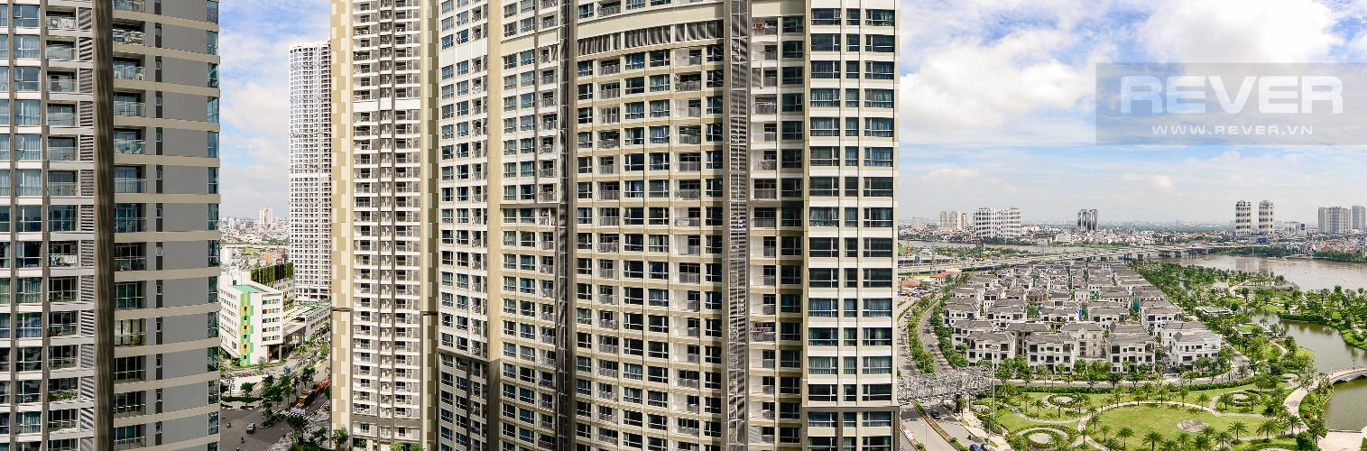 View Căn hộ Vinhomes Central Park 2 phòng ngủ, tầng trung P5, nội thất cơ bản