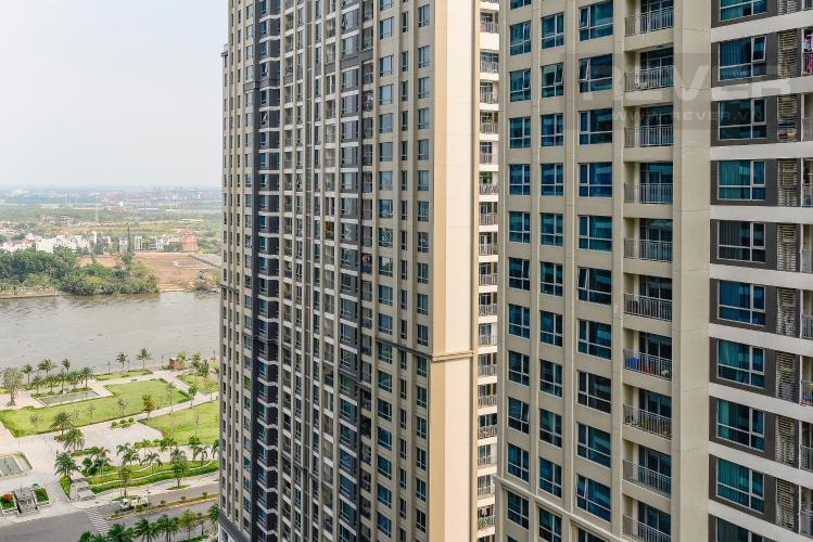 View Căn hộ Vinhomes Central Park 2 phòng ngủ tầng cao P7 nhà trống