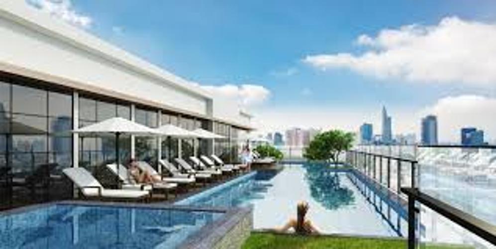 Hồ bơi The Gold View, Quận 4 Căn hộ The Gold View tầng trung, thiết kế hiện đại đầy đủ nội thất.