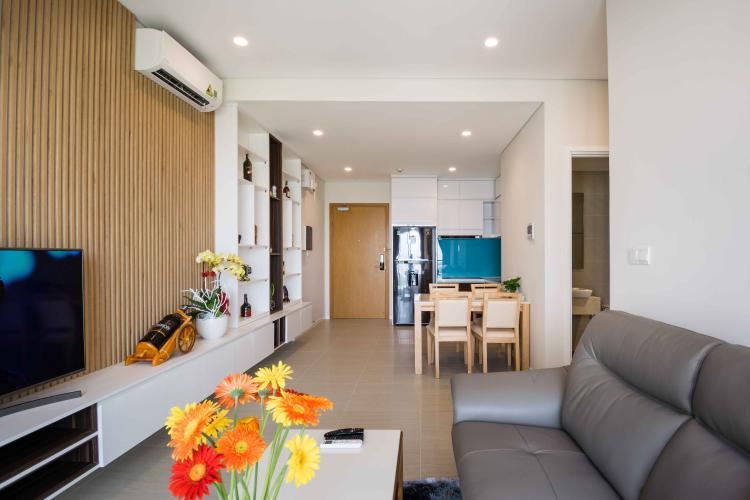 Phòng Khách Cho thuê căn hộ officetel Diamond Island - Đảo Kim Cương tháp Canary, đầy đủ nội thất, view sông thoáng mát