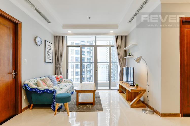 Phòng khách Căn hộ Vinhomes Central Park 2 phòng ngủ, tầng thấp C2, nội thất đầy đủ