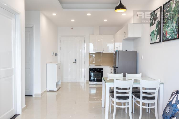 Không Gian Bếp & Bàn Ăn Cho thuê căn hộ Saigon Mia 2PN, tầng thấp, đầy đủ nội thất, view khu dân cư