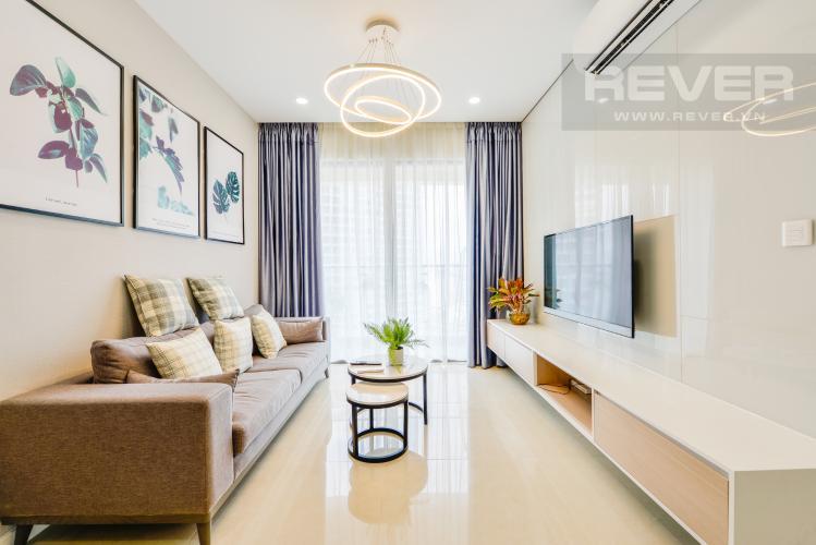 Phòng khách Cho thuê căn hộ Masteri Millennium tầng cao 2PN đầy đủ nội thất view đẹp