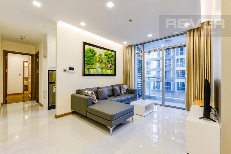 Phòng khách Căn hộ Vinhomes Central Park 2 phòng ngủ tầng thấp P7 view nội khu