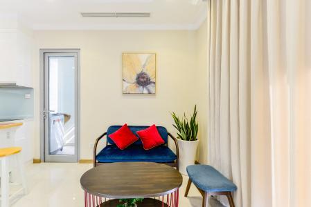 Căn hộ Vinhomes Central Park tầng cao 2PN thiết kế đẹp, nội thất đầy đủ