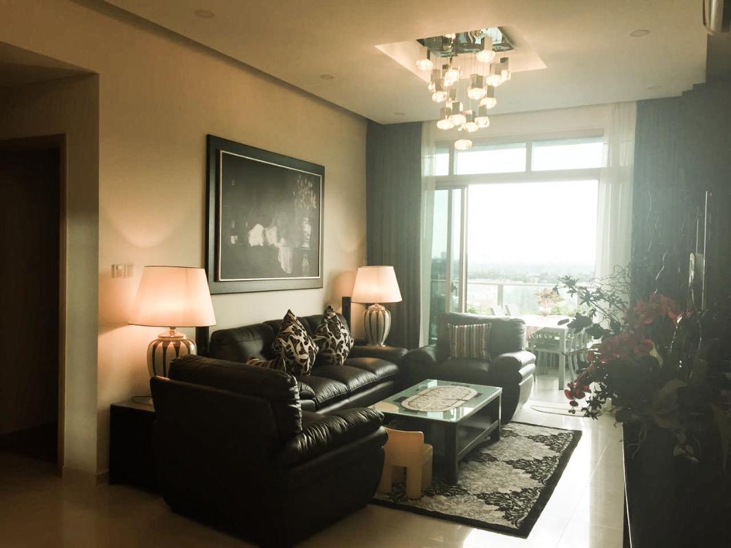 Phòng khách Bán căn hộ sân vườn The Vista An Phú 2PN, tháp T3, diện tích 143m2, đầy đủ nội thất, hướng Đông Nam
