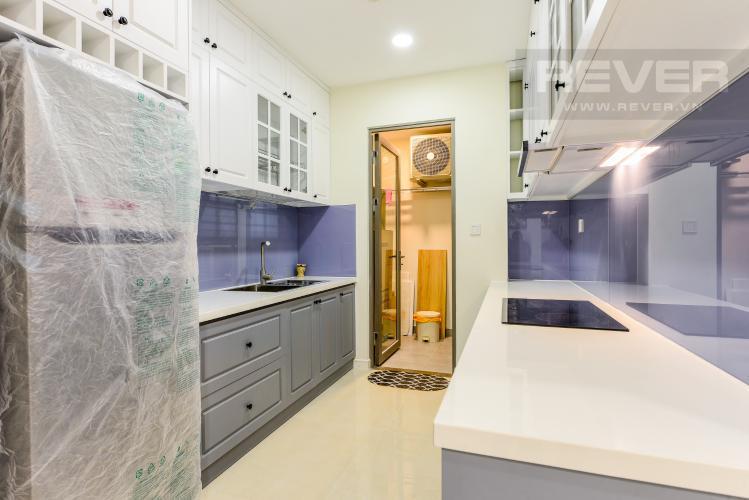 Bếp Cho thuê căn hộ Masteri Millennium tầng cao, view sông 2PN đầy đủ nội thất