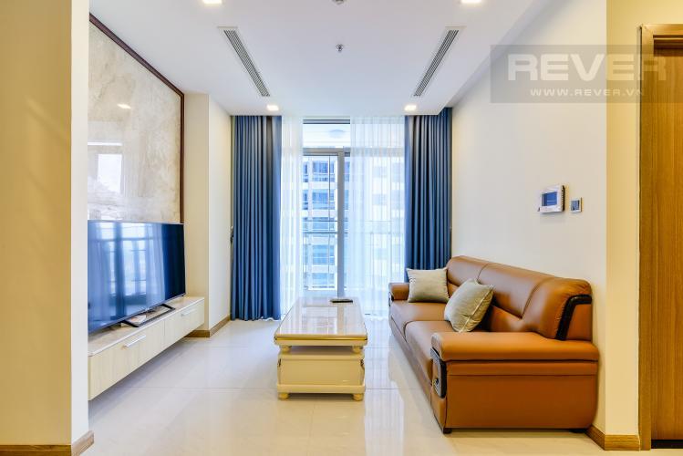 Phòng Khách Căn hộ Vinhomes Central Park 3 phòng ngủ tầng cao P3 đầy đủ tiện nghi