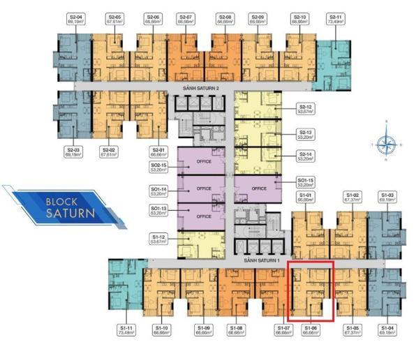 Căn hộ Q7 Saigon Riverside tầng cao, nội thất cơ bản bàn giao.