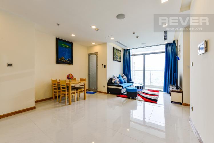 Phòng khách Căn hộ Vinhomes Central Park 2 phòng ngủ, tầng cao P6, nội thất đầy đủ